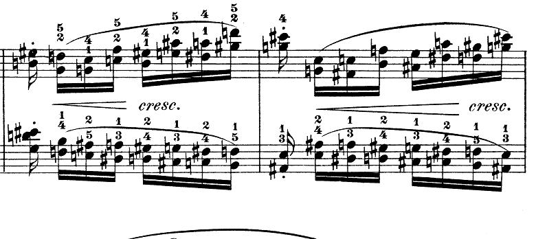 ショパン「別れの曲」Op.10-3ホ長調 ピアノ楽譜2