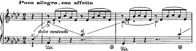 リスト「愛の夢第3番変イ長調S.541-3」ピアノ楽譜1
