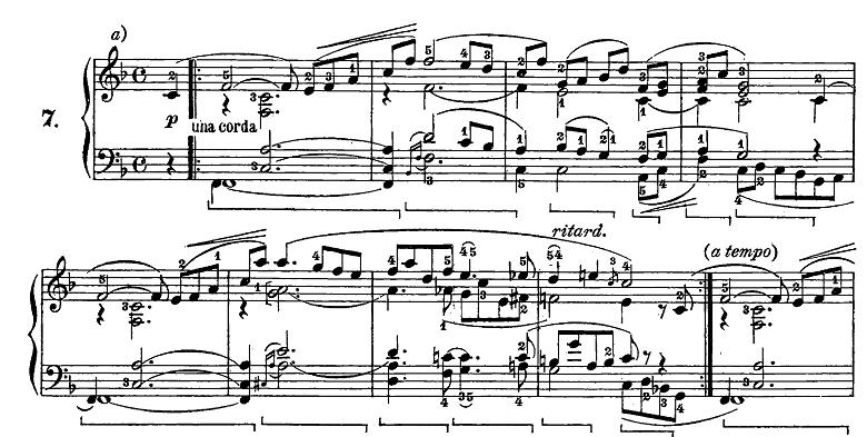 シューマン「トロイメライ」ヘ長調Op.15-7ピアノ楽譜