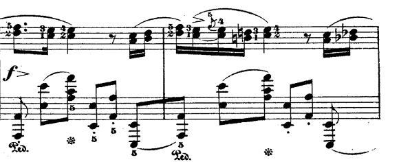 ショパン「ポロネーズ第6番『英雄ポロネーズ』変イ長調Op.53」主部のピアノ楽譜