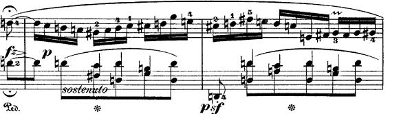 ショパン「ポロネーズ第6番『英雄ポロネーズ』変イ長調Op.53」落ち着く部分のピアノ楽譜