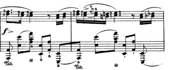 ショパン「ポロネーズ第6番『英雄ポロネーズ』変イ長調Op.53」左手が動きまくる部分のピアノ楽譜