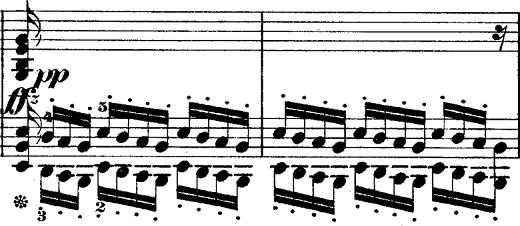 ショパン「ポロネーズ第6番『英雄ポロネーズ』変イ長調Op.53」左手のオクターブのピアノ楽譜
