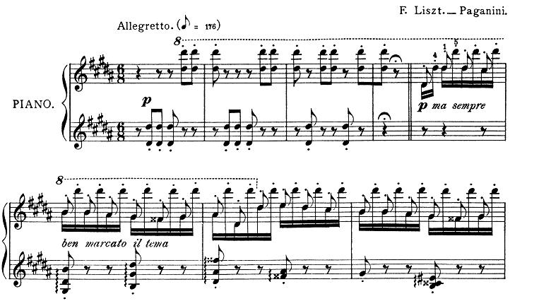 リスト「パガニーニによる大練習曲第3番「ラ・カンパネラ」嬰ト短調S.141-3」ピアノ楽譜1