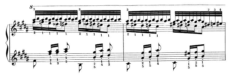 リスト「パガニーニによる大練習曲第3番「ラ・カンパネラ」嬰ト短調S.141-3」ピアノ楽譜2