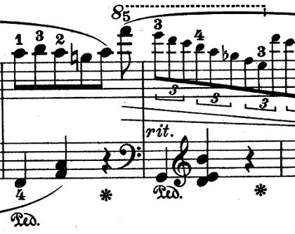ショパン「ワルツ第6番『子犬のワルツ』変ニ長調Op.64-1」ラストの最高音のピアノ楽譜