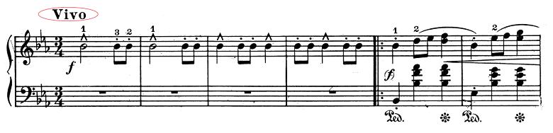 ショパン「ワルツ第1番『華麗なる大円舞曲』変ホ長調Op.18」Vivoのピアノ楽譜