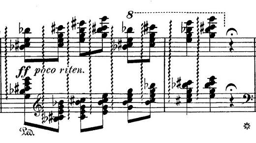 チャイコフスキー「四季6月『舟歌』ト短調」ピアノ楽譜4