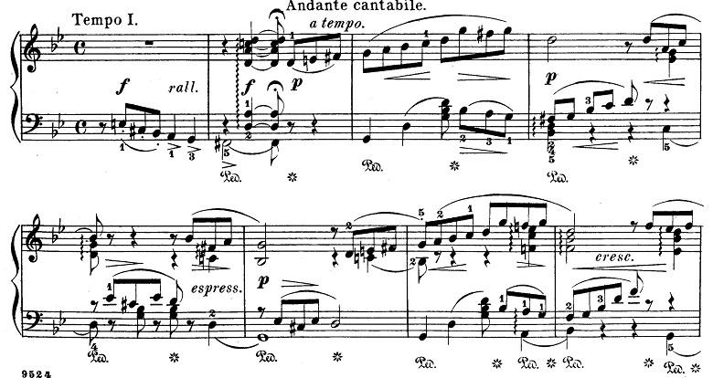チャイコフスキー「四季6月『舟歌』ト短調」ピアノ楽譜5