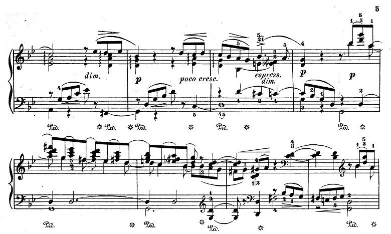 チャイコフスキー「四季6月『舟歌』ト短調」ピアノ楽譜6