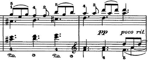 チャイコフスキー「四季5月『白夜(5月の夜)』ト長調』ピアノ楽譜2
