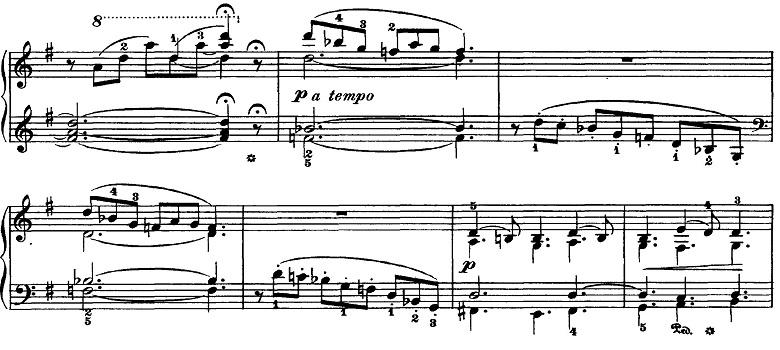 チャイコフスキー「四季5月『白夜(5月の夜)』ト長調』ピアノ楽譜3