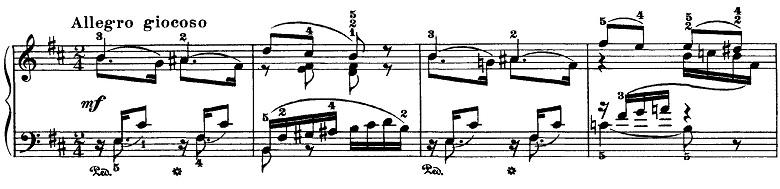 チャイコフスキー「四季5月『白夜(5月の夜)』ト長調』ピアノ楽譜4