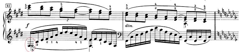 ドビュッシー「ベルガマスク組曲第3曲『月の光』変ニ長調L.75-3」ピアノ楽譜~ソステヌートペダル4