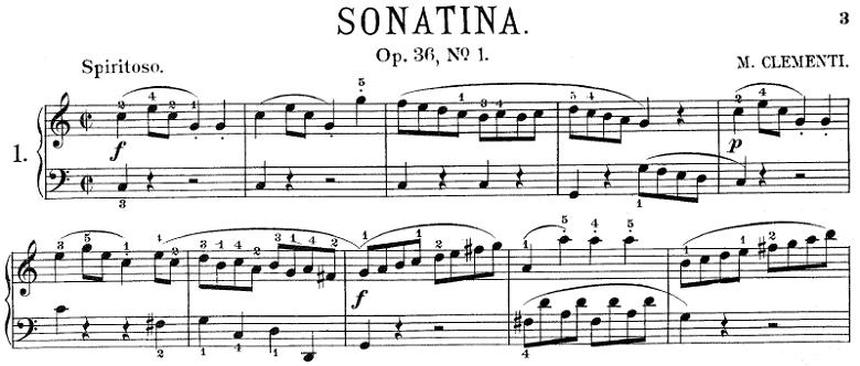 ソナチネアルバム第1巻第7番/クレメンティー「ソナチネOp.36No.1」ピアノ楽譜