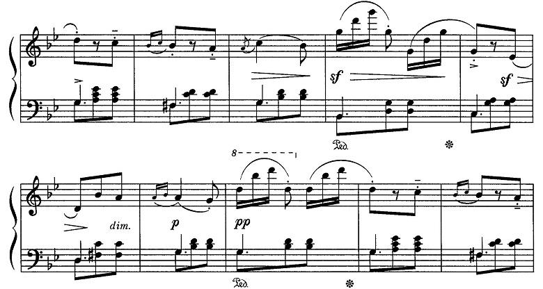 ブルグミュラー「18の練習曲第15番「風の精」ト短調Op.109-15」ピアノ楽譜3