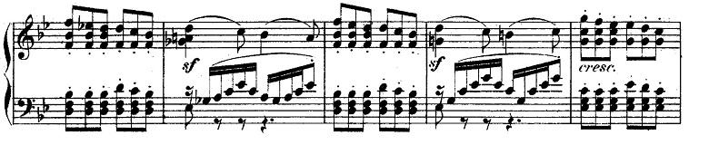 メンデルスゾーン「無言歌集第4巻第3曲「プレストアジタート(胸騒ぎ)」ト短調Op.53-3」ピアノ楽譜4