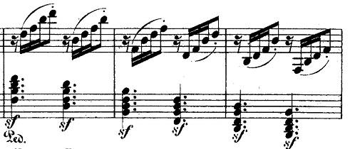 メンデルスゾーン「無言歌集第4巻第3曲「プレストアジタート(胸騒ぎ)」ト短調Op.53-3」ピアノ楽譜6