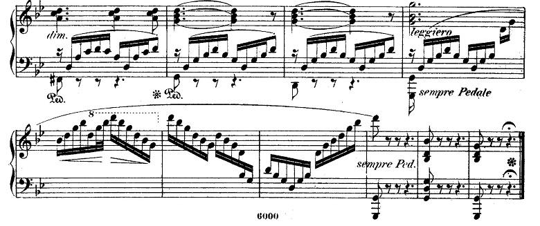 メンデルスゾーン「無言歌集第4巻第3曲「プレストアジタート(胸騒ぎ)」ト短調Op.53-3」ピアノ楽譜9