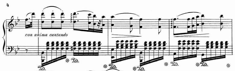 ランゲ「「花の歌」ヘ長調Op.39」ピアノ楽譜5