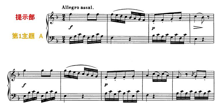 ソナチネアルバム第2巻第11番ベートーヴェンソナチネへ長調ピアノ楽譜1