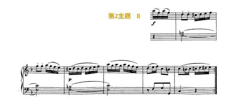 ソナチネアルバム第2巻第11番ベートーヴェンソナチネへ長調ピアノ楽譜2