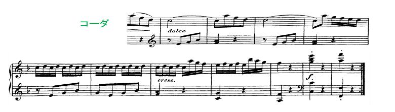 ソナチネアルバム第2巻第11番ベートーヴェンソナチネへ長調ピアノ楽譜5