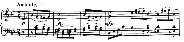 ベートーヴェン「ピアノソナタ第19番ト短調Op.49-1第1楽章」ピアノ楽譜1