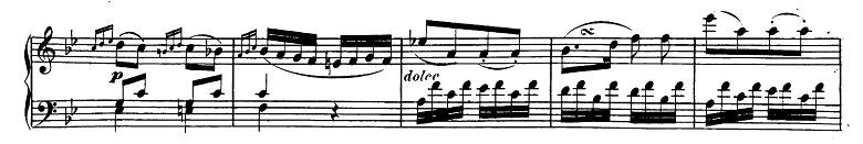 ベートーヴェン「ピアノソナタ第19番ト短調Op.49-1第1楽章」ピアノ楽譜2