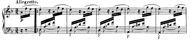 ベートーヴェン「ピアノソナタ第17番「テンペスト」ニ短調Op.31-2第3楽章」ピアノ楽譜1