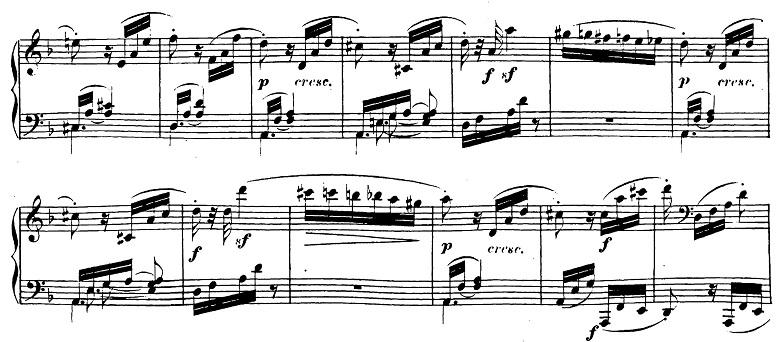 ベートーヴェン「ピアノソナタ第17番「テンペスト」ニ短調Op.31-2第3楽章」ピアノ楽譜2