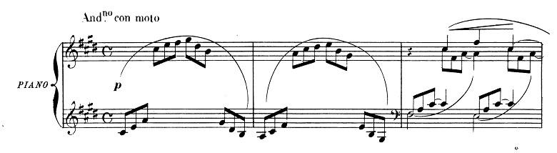 ドビュッシー「2つのアラベスク第1番ホ長調L.66-1」ピアノ楽譜1