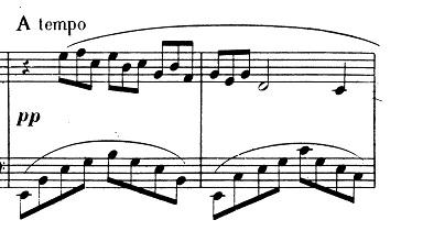 ドビュッシー「2つのアラベスク第1番ホ長調L.66-1」ピアノ楽譜2