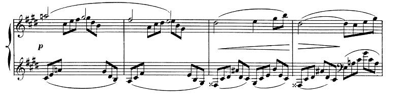 ドビュッシー「2つのアラベスク第1番ホ長調L.66-1」ピアノ楽譜4