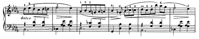 ショパン「ワルツ第1番『華麗なる大円舞曲』変ホ長調Op.18」169小節目からのピアノ楽譜