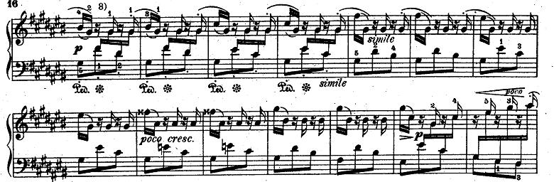 バッハ「平均律クラヴィーア曲集第1巻第3番嬰ハ長調BWV848」ピアノ楽譜3