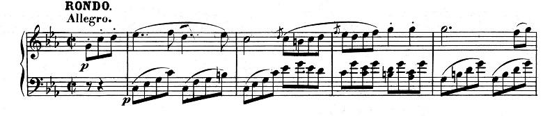 ベートーヴェン「ピアノソナタ第8番「悲愴」ハ短調Op.13第3楽章」ピアノ楽譜1