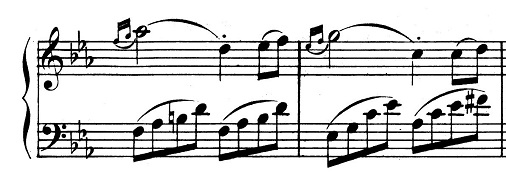 ベートーヴェン「ピアノソナタ第8番「悲愴」ハ短調Op.13第3楽章」ピアノ楽譜2
