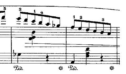 ショパン「ワルツ第6番『子犬のワルツ』変ニ長調Op.64-1」セクションBのピアノ楽譜