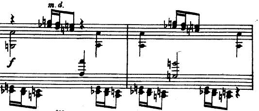 プロコフィエフ「ピアノソナタ第6番「戦争ソナタ」イ長調Op.82第1楽章」ピアノ楽譜2