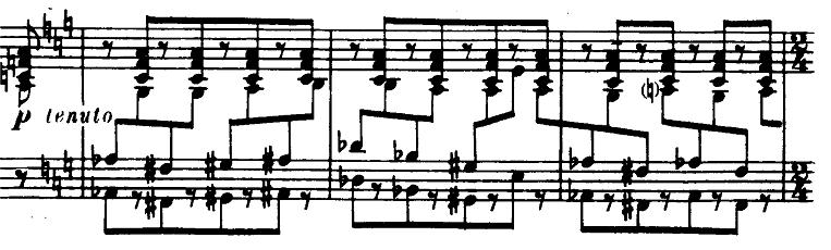 プロコフィエフ「ピアノソナタ第6番「戦争ソナタ」イ長調Op.82第1楽章」ピアノ楽譜3