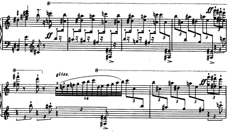 プロコフィエフ「ピアノソナタ第6番「戦争ソナタ」イ長調Op.82第1楽章」ピアノ楽譜6