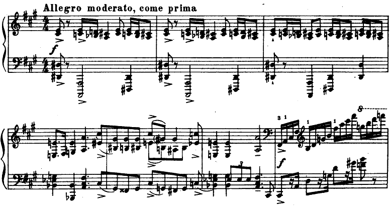 プロコフィエフ「ピアノソナタ第6番「戦争ソナタ」イ長調Op.82第1楽章」ピアノ楽譜8