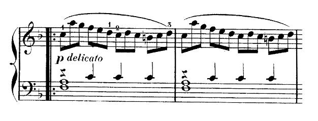 ブルグミュラー「25の練習曲第25番「貴婦人の乗馬」ハ長調Op.100-25」ピアノ楽譜3