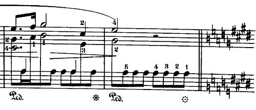 ショパン「24の前奏曲第15番『雨だれの前奏曲』変ニ長調Op.28-15」リタルダンド部分のピアノ楽譜