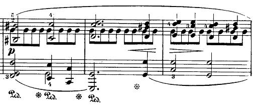 ショパン「24の前奏曲第15番『雨だれの前奏曲』変ニ長調Op.28-15」3つの旋律部分のピアノ楽譜