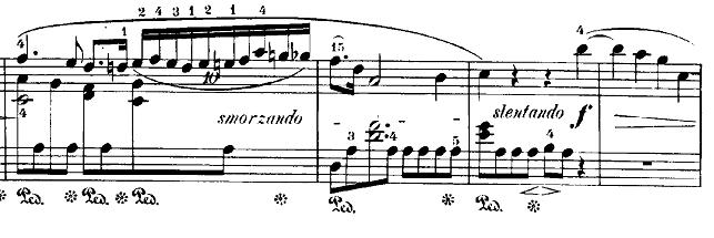ショパン「24の前奏曲第15番『雨だれの前奏曲』変ニ長調Op.28-15」10連符部分のピアノ楽譜