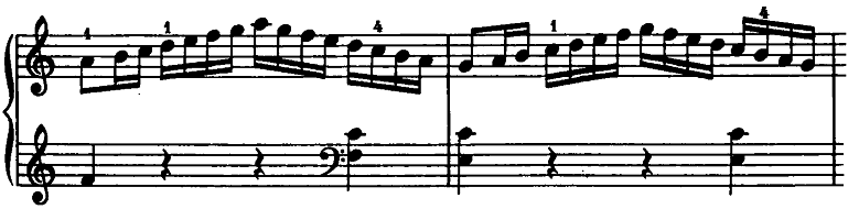モーツァルト「ピアノソナタ第15(16)番ハ長調K.545」ピアノ楽譜2