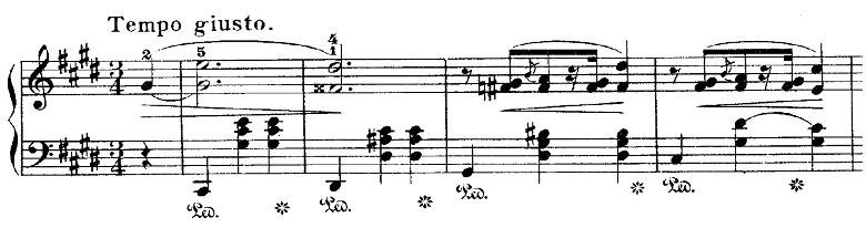 ショパン「ワルツ第7番嬰ハ短調Op.64-2」ダブルシャープのあるピアノ楽譜