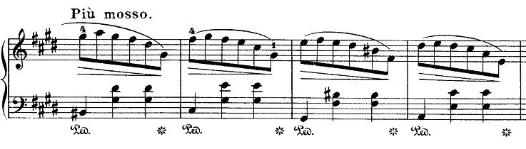 ショパン「ワルツ第7番嬰ハ短調Op.64-2」Piu mossoのピアノ楽譜